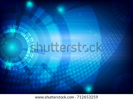 Blue vector digital technology concept, abstract background