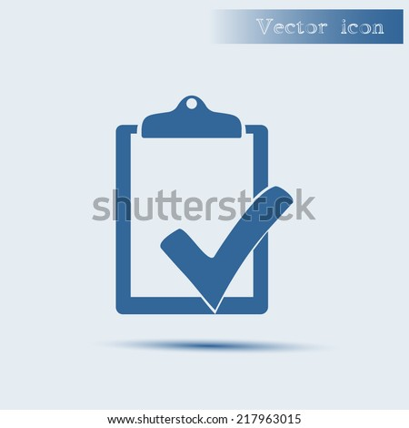 blue vector icon with shadow Flat design style  - stock vector