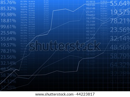 blue vector illustration of graph - stock vector