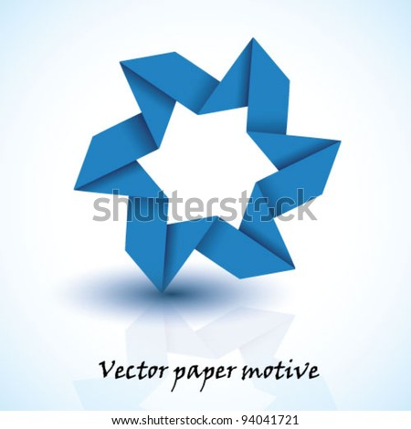 Blue vector paper star motive