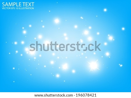 Blue vector sparkles background  illustration  - Vector abstract blue sparkles template background - stock vector