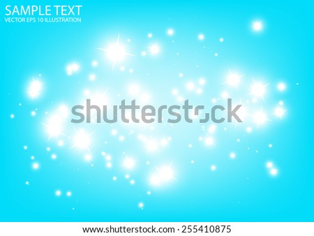 Blue vector sparkling space background illustration - Vector abstract blue sparkle   template background - stock vector