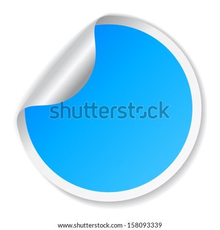 Blue vector sticker - stock vector