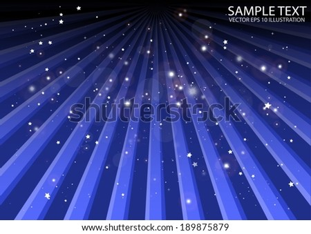 Blue vector tracked  background illustration - Vector blue  rays spreading template illustration - stock vector