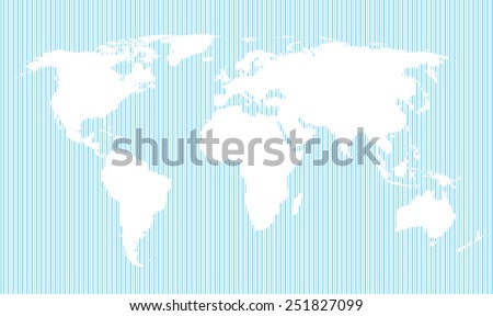 blue vertical line pattern world map