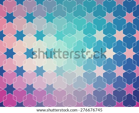 blue violet retro pattern. Ethnic vector textured background for your design - stock vector