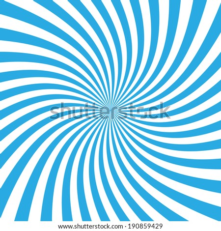 Blue warp sunburst ray vector. - stock vector
