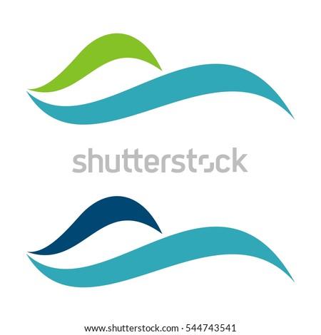 blue water swoosh logo template stock vector 2018 544743541 rh shutterstock com nike swoosh logo vector free download