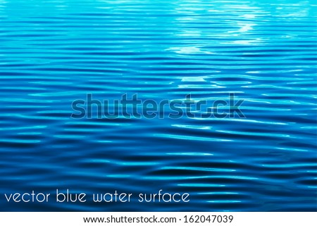 Blue water vector background - stock vector