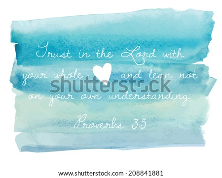 Blue Watercolor Ombre Background Bible Verse Stock Vector ...