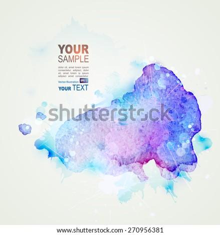 blue watercolor stain. Vector blob - stock vector