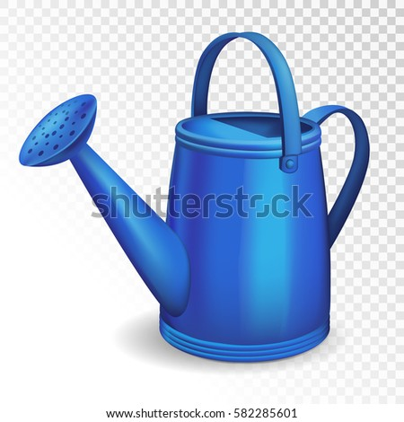 Floral Background With Watering Can, Illustration Royalty Free ...