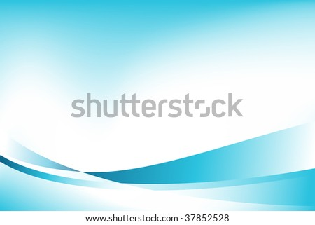 blue wave - stock vector