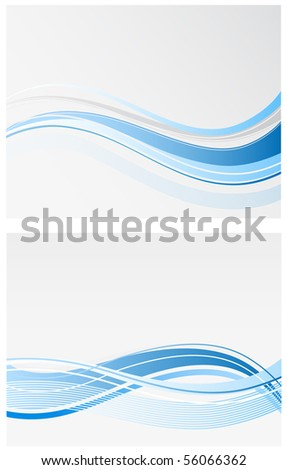 blue wave backgrounds - stock vector