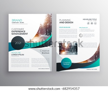 Blue wave business brochure flyer template stock photo photo blue wave business brochure flyer template design wajeb Gallery