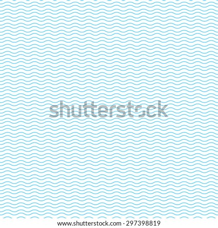 Blue wave pattern - stock vector