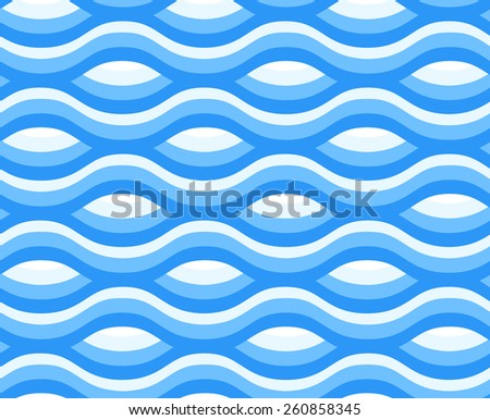 blue wave pattern background seamless - stock vector