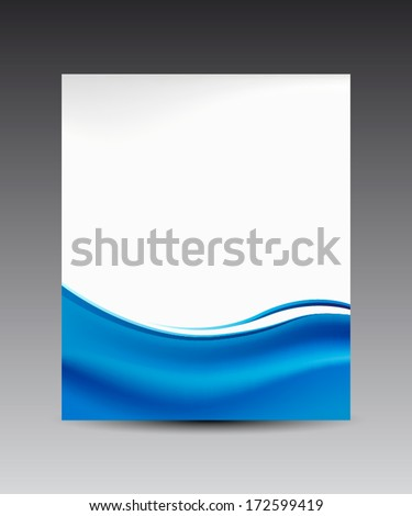blue waves banner background, for web & business - stock vector