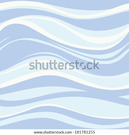 Blue waves. Seamless pattern - stock vector