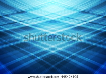Blue wavy vector lines abstract background. Smooth bright waves brochure design. Web template - stock vector