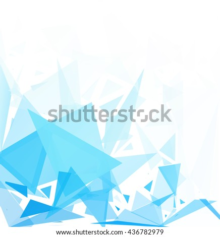 Blue  White Geometric Break Background, Creative Design Templates