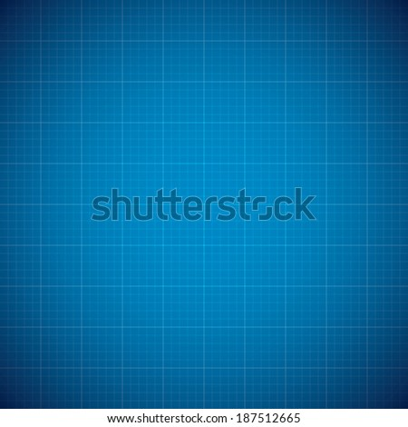 Blueprint architechture vector background with line grid - stock vector