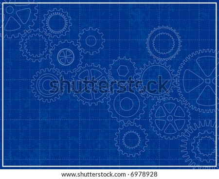 Blueprint background cogs stock vector hd royalty free 6978928 blueprint background with cogs malvernweather Images