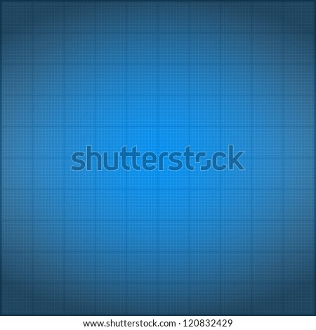 Blueprint background with vignetting, vector eps10 illustration - stock vector