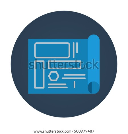 Blueprint flat vector icon that shows stock vector 2018 500979487 blueprint flat vector icon that shows concept such as project development for your personal or malvernweather Image collections