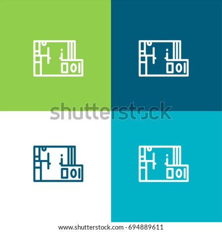 Blueprint green blue material color minimal stock vector 694889611 blueprint green and blue material color minimal icon or logo design malvernweather Images