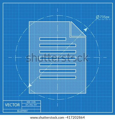 Blueprint icon document stock vector 417202864 shutterstock blueprint icon of document malvernweather Choice Image