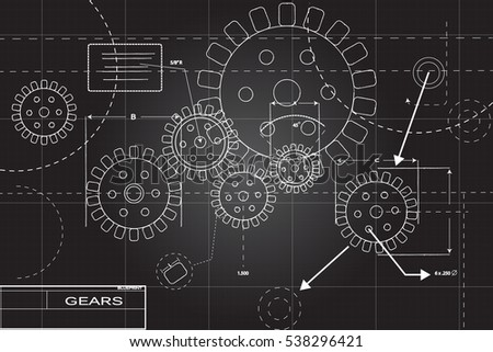 Blueprint illustration black white vector de stock538296421 blueprint illustration in black and white malvernweather Images