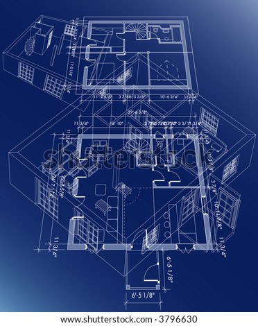 blueprint plane of the little house