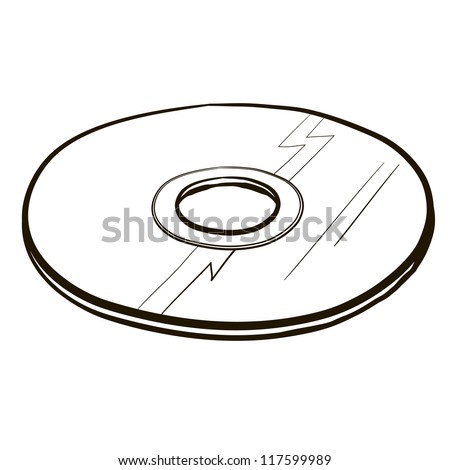 blueray/cd/dvd/hddvd. A children's sketch. - stock vector