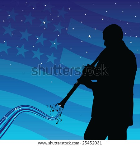 blues - stock vector
