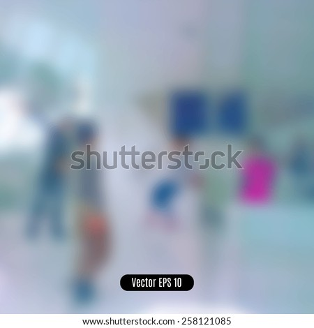 Blur abstract background. Blurred image people. - stock vector