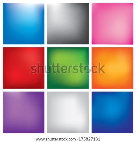 Blur abstract background set, vector - stock vector