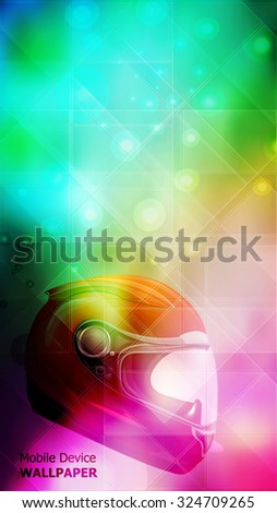 Blur Background With Helmet