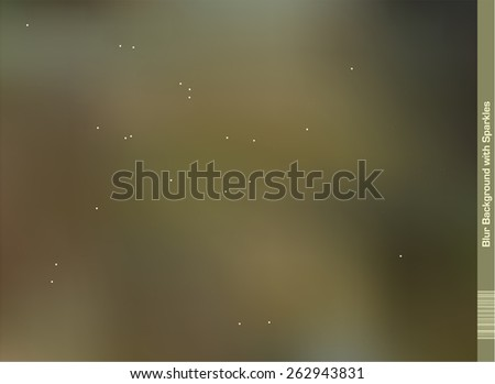 Blur Background with random small shiny spots placed all over the Illustration. - stock vector