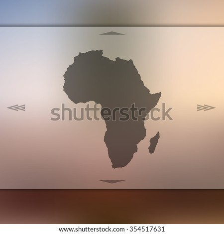 Blur background with silhouette of Africa. Blur Africa. Africa. Africa map. Blur. Blur background. Silhouette of Africa. Yellow Africa. Silhouette Africa. Blur Africa sunset. African map. African sun. - stock vector
