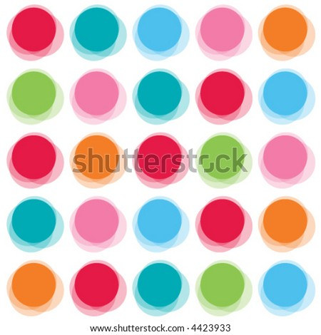 blur color party dots (vector) - illustrated background pattern - stock vector