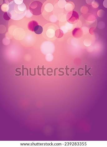 blur Purple and Cream background with an illuminated circles. - stock vector