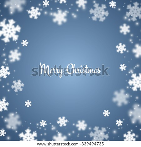 Blur Snowflakes christmas background