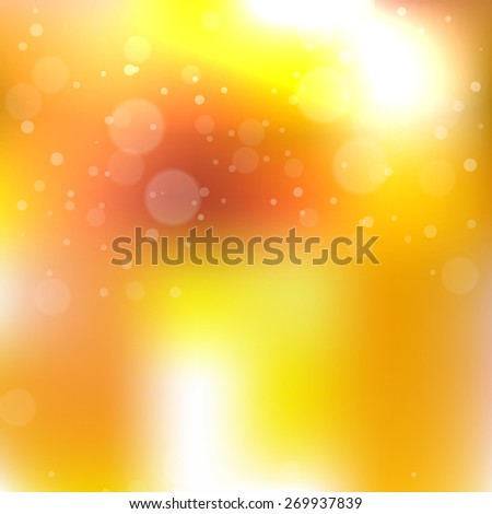 Blurred background with sparkles. Vector illustration