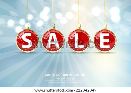 Blurred blue abstract background Christmas and New Year. Bright, snowflakes, snow.Vector EPS 10 illustration. - stock vector