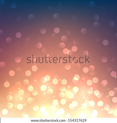 Blurred bokeh vibrant background. Vector.  - stock vector