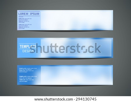 Blurred colored banners for web design. Vector illustration - stock vector