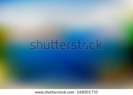 Blurred image of blue and green natural hues - stock vector