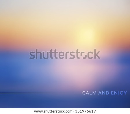 Blurred nature winter background. Vector illustration EPS10 - stock vector