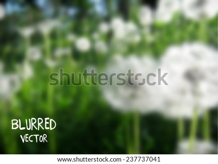 Blurred retro dandelion background, great for your design - stock vector